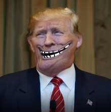 trump troll face